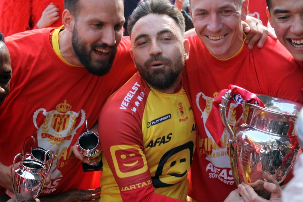 Onur Kaya won in mei 2019 de Beker van België met KV Mechelen