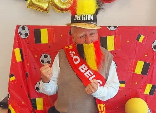 EK-koorts duivelse foto België Rode Duivels